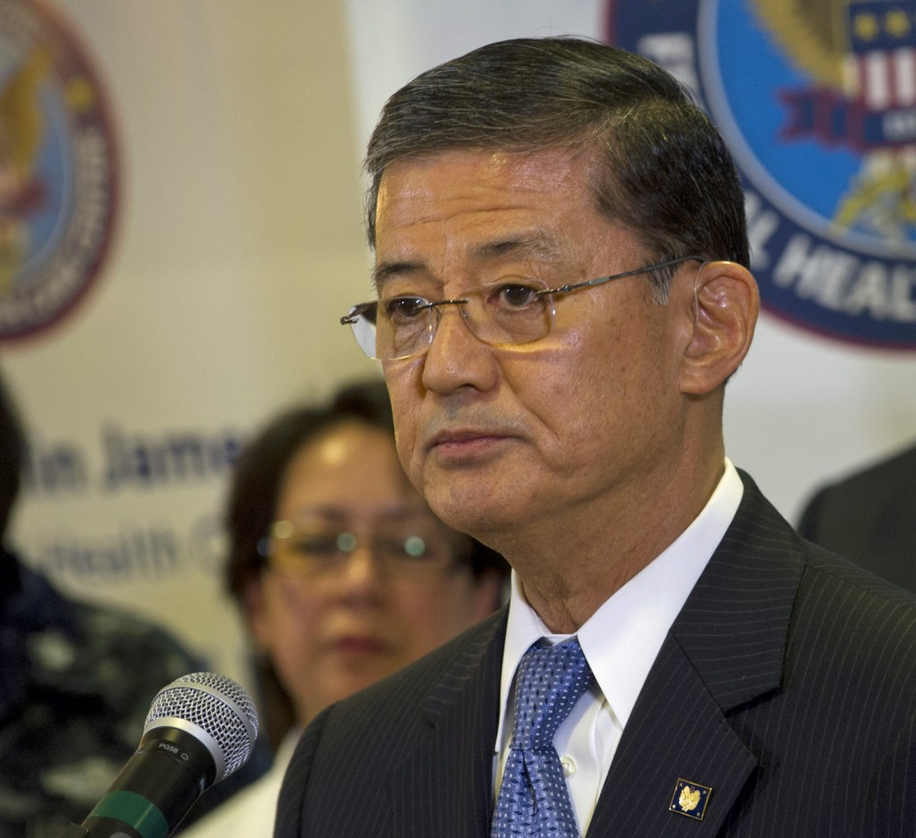 File photo of Veterans Administration Secretary Eric K. Shinseki on May 21, 2012. Creative Commons photo by the Department of Defense / Petty Officer 1st Class Chad J. McNeeley via flickr. https://www.flickr.com/photos/secdef/7245888464