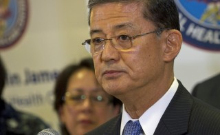 Veterans' Affairs Secretary Eric K. Shinseki answers questions during a  news conference on May 21, 2012. Photo by Flickr user Chad J. McNeeley/Department of Defense