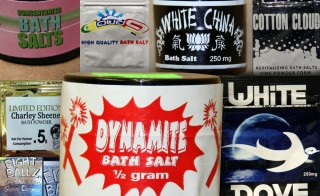 "Raids have targeted synthetic drug sellers across the U.S. Photo collage of the drug known as ""bath salts"" by NewsHour"