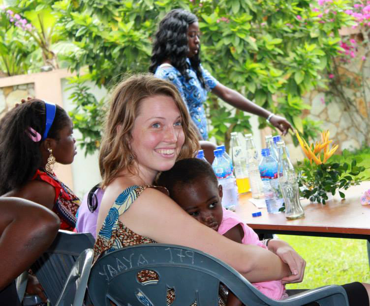 Co-founder Rebecca Brandt attends a graduation reception in Aburi, Ghana, in July 2013. Photo courtesy of ABAN