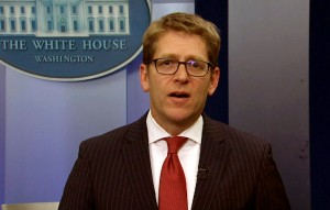 President Barack Obama interrupted the White House daily press briefing on Friday to announce that his spokesman Jay Carney is stepping down, and named as a replacement Josh Earnest, Carney's deputy.