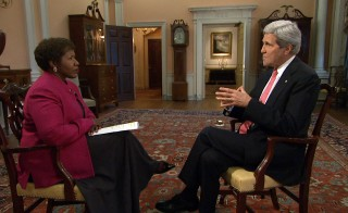 Watch the full John Kerry interview with Gwen Ifill on Thursday's PBS NewsHour. Photo by NewsHour