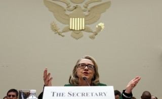 In a new book, which is scheduled for publication in June, Hillary Clinton defends her response as secretary of state to the 2012 attacks on a U.S. consulate in Benghazi. Photo by Kevin Lamarque/Reuters