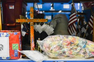 Items picked up at the Vietnam Veterans Memorial are housed at the National Park Service Museum Resource Center in Landover, Md. Photo by Ariel Min/PBS NewsHour