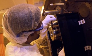 Engineers at UMass Amherst look to make nanotechnology mass manufactured. Courtesy Science Nation.