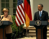 Barack Obama and Angela Merkel on Ukraine