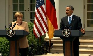 Barack Obama and Angela Merkel on Ukraine