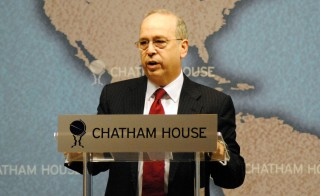 Assistant Secretary of State for East Asian and Pacific Affairs Daniel Russel speaks at the Chatham House in London on January 13, 2014. Russel warned Wednesday that China's territorial disputes were harming the country's international standing. Photo by Chatham House