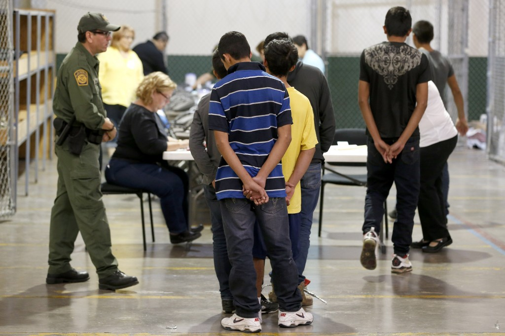 More than xxxx migrant children have crossed into the U.S. illegally since xxx. Facilities like this U.S. Customs and Border Protection placement center in Nogales, Arizona, are overwhelmed and ill equipped to handle them.  Photo by Ross D. Franklin-Pool/Getty Images