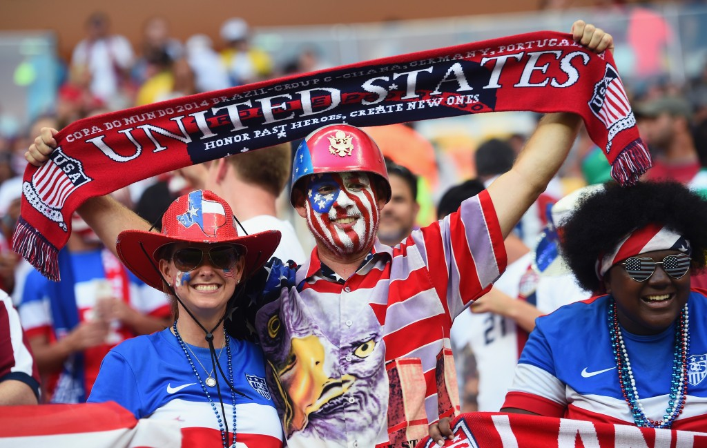 U.S. soccer fans watch Sunday's U.S.-Portugal match in Manaus, Brazil. Photo by Christopher Lee/Getty Images