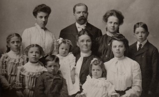 The Balthazard Family around 1900. Photo by Flickr user Diane Cordell