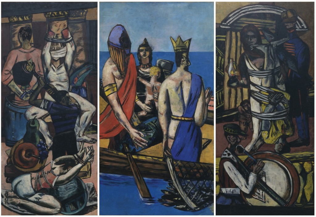Max Beckmann (1884-1950) Departure, Frankfurt 1932, Berlin 1933-35 Oil on canvas 84 3⁄4 x 39 1⁄4 in. (215.3 x 99.7 cm) The Museum of Modern Art, New York. Given anonymously (by exchange) Digital Image © 2014 The Museum of Modern Art/Licensed by SCALA/ Art Resource, NY © 2014 Artists Rights Society (ARS), New York/VG Bild-Kunst, Bonn