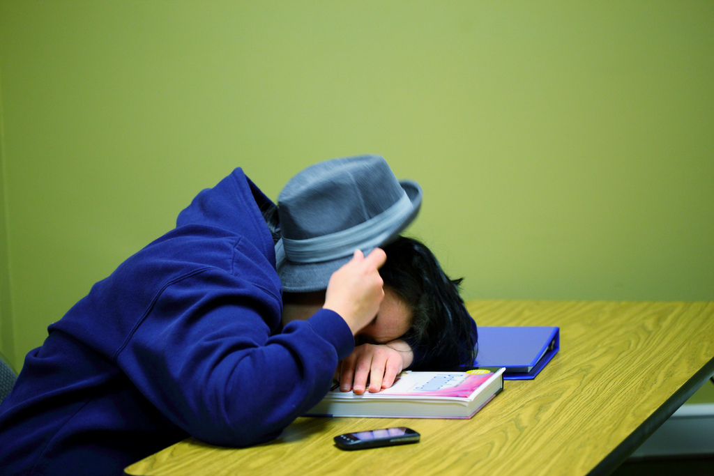 Middle school and high school students need 8.5 to 9.5 hours of sleep, as recommended by the Photo by Flickr user D. Sharon Pruitt