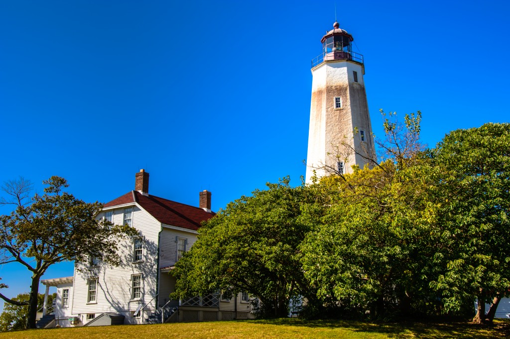 The 250-year old lighthouse sits in the Atlantic Ocean near the entrance to New York Harbor. Photo by Flickr user Shinya Suzuki.