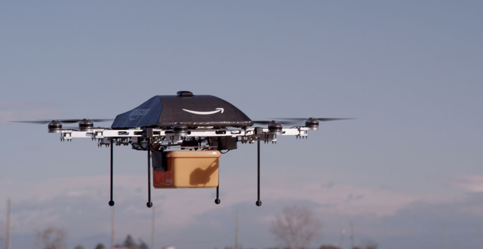 Amazon Prime Air wants to employ drones to deliver packages to customers. Photo courtesy of Amazon