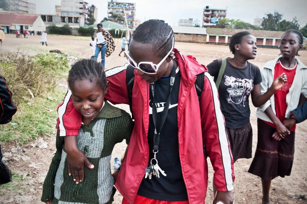 "Sonko is very popular amongst the younger girls. ""In the future, I'd like to be the one many people are talking about when they hear the word mentor or leader"" (Jane Atieno 'Sonko'). Photo by Mia Collis"