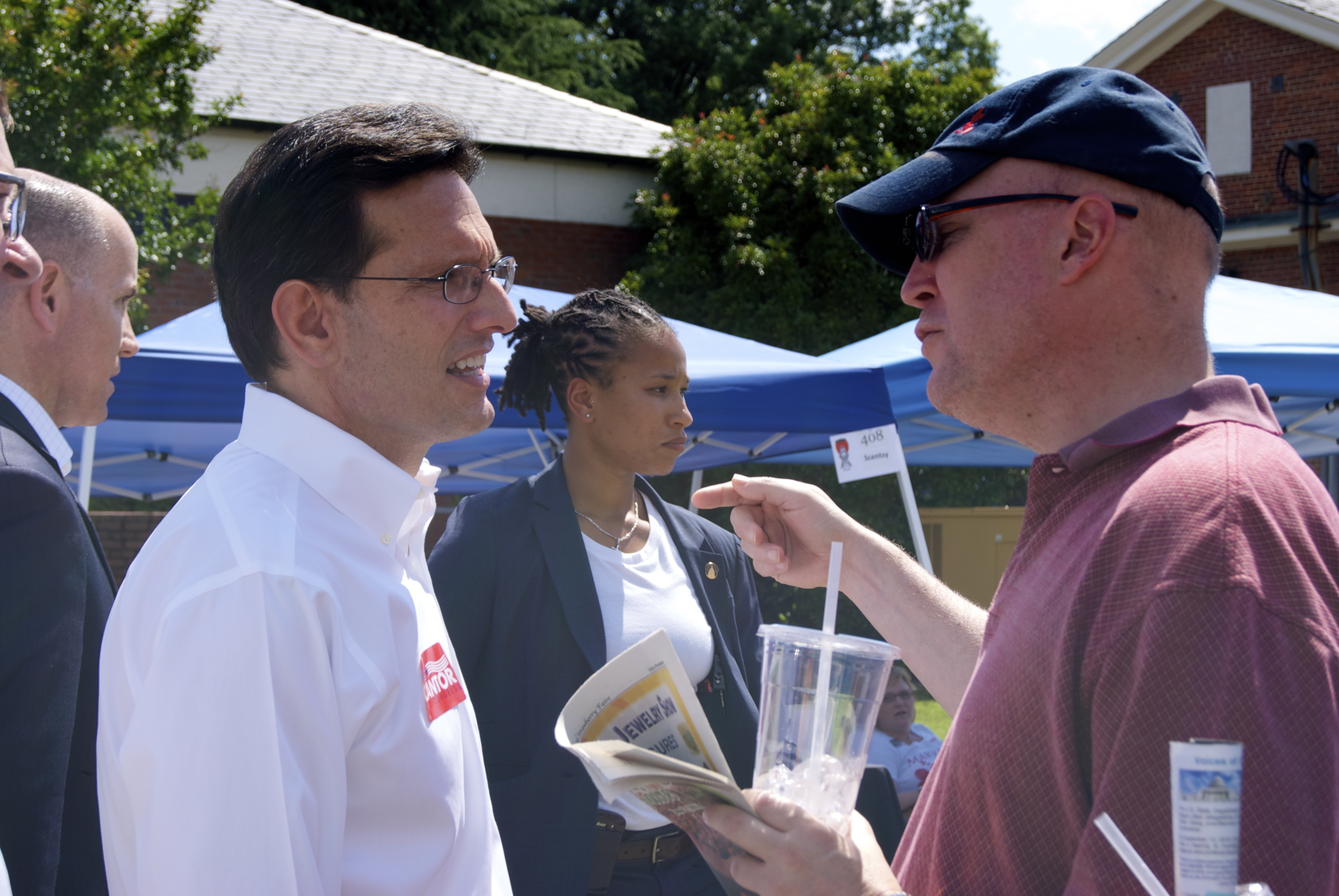 House Majority Leader Eric Cantor at the Ashland Strawberry Faire. Photo by Rachel Wellford