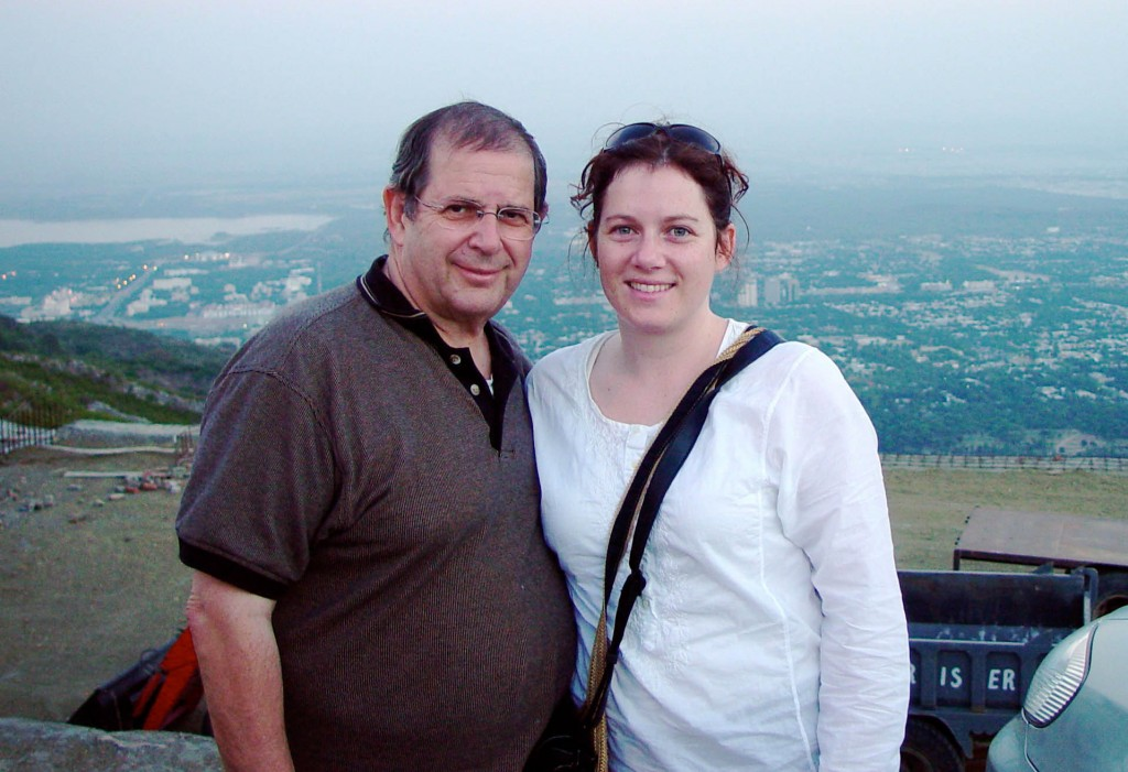 Warren Weinstein's daughter Alisa visited him in Islamabad in the summer of 2005. Photo courtesy of the Weinstein family