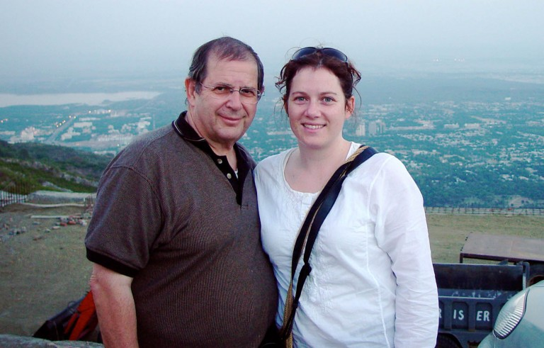 Warren Weinstein, pictured here with his daughter in Pakistan in 2005, was killed in a U.S. counterterrorism operation in January 2015, the White House said on April 23, 2015. Photo courtesy of the Weinstein family