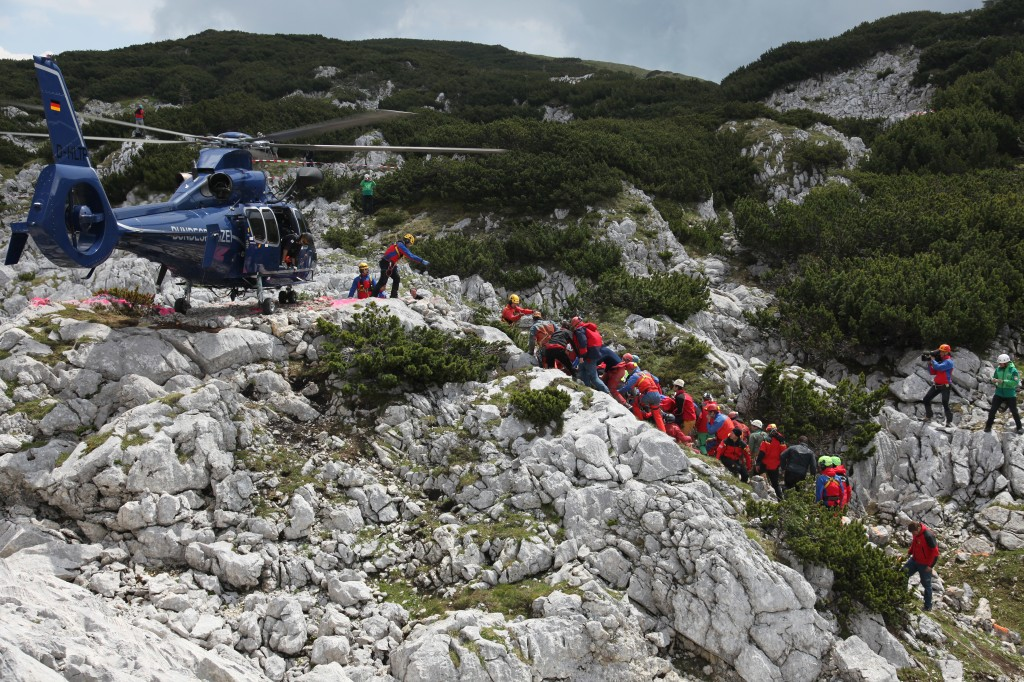 According to the Bavarian Mountain Patrol, a total of 728 rescue workers helped out during the 12-day rescue. The rescue was a successful collaboration with the best cave rescuers from all over Europe. Photo handout from the Bavarian Mountain Patrol