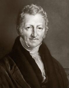 Image of Thomas Malthus courtesy of Wikimedia Commons.