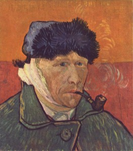 Vincent van Gogh cut off his own ear during a psychotic episode in 1888.