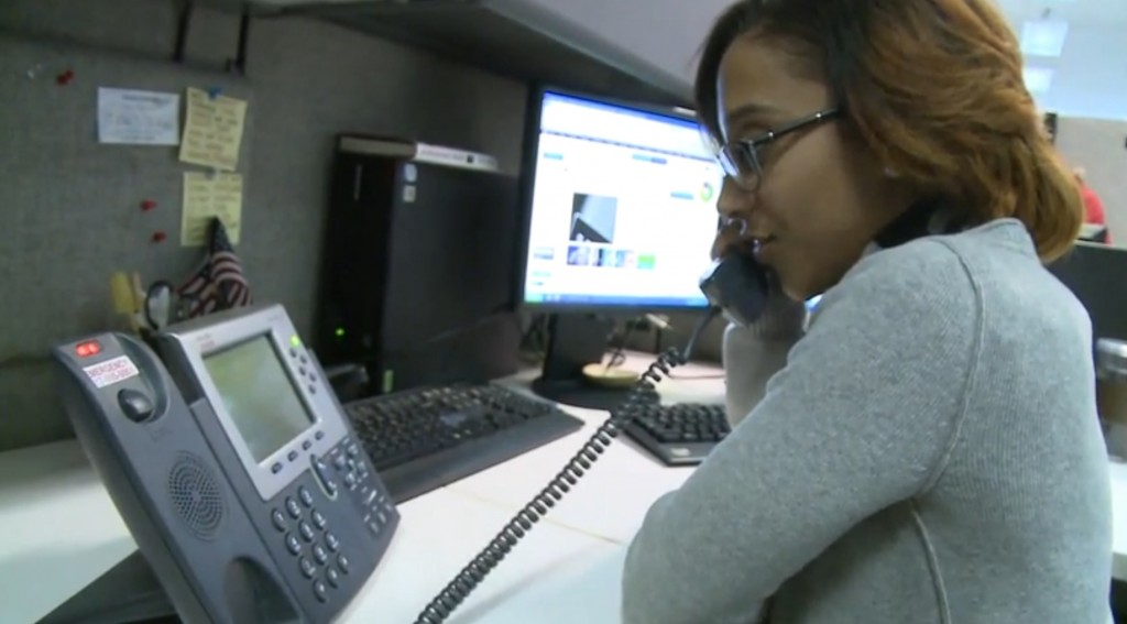 Stephanie Pinto interns at State Street as a pricing specialist. NewsHour still image.