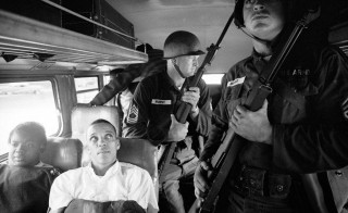 Freedom Riders Julia Aaron, left, and David Dennis were among the Freedom Riders who paved the way for Freedom Summer student volunteers. Pictured here in 1961, Dennis would eulogize activist James Chaney three years later. Photo courtesy of Paul Schutzer/PBS