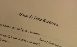 "Charles Wright reads ""Hasta la Vista Buckaroo"""