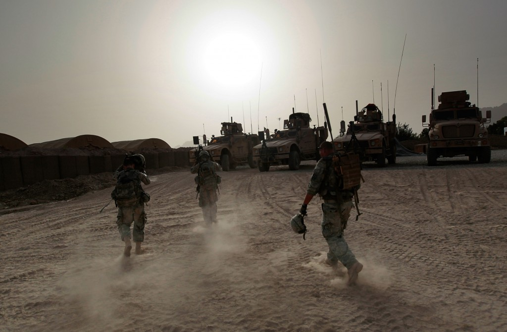 2010 file photo of U.S. soldiers in Afghanistan by Getty Images