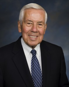 Former Indiana Sen. Richard Lugar supports his friend, Mississippi Sen. Thad Cochran . Photo from Lugar Center