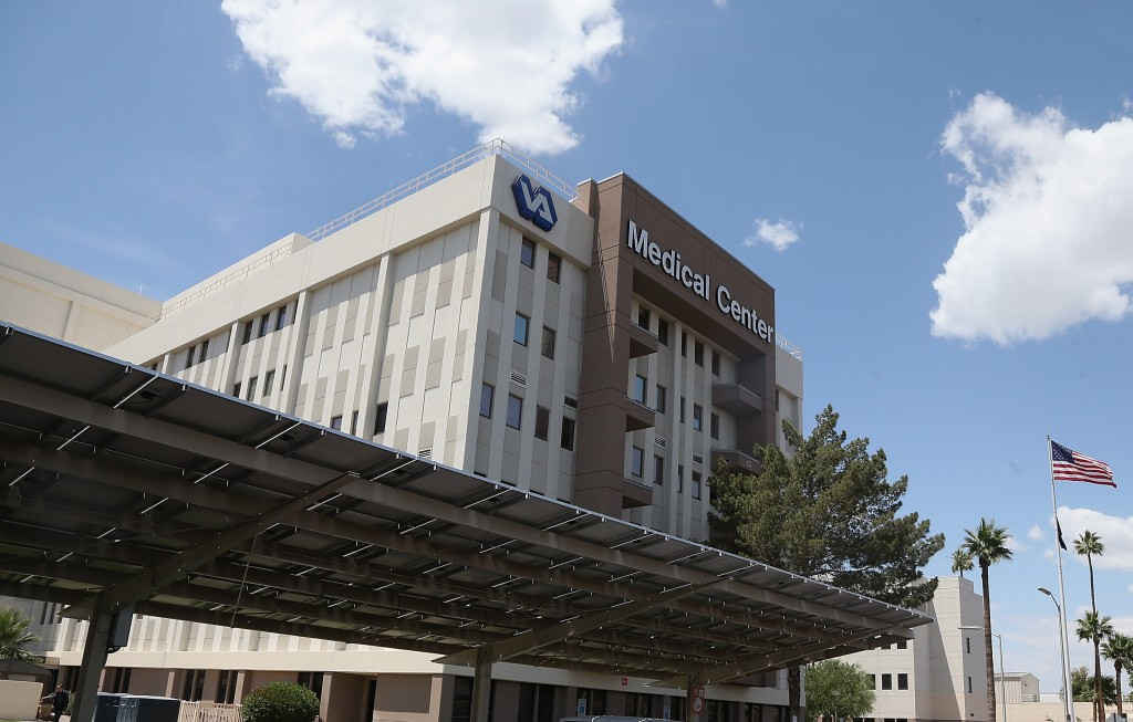 Exterior view of the Veterans Affairs Medical Center on May 8, 2014 in Phoenix, Arizona. Photo by Christian Petersen/Getty Images