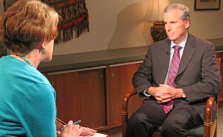 Former U.S. Ambassador to Syria Robert Ford with PBS NewsHour correspondent Margaret Warner in an interview airing on Tuesday.