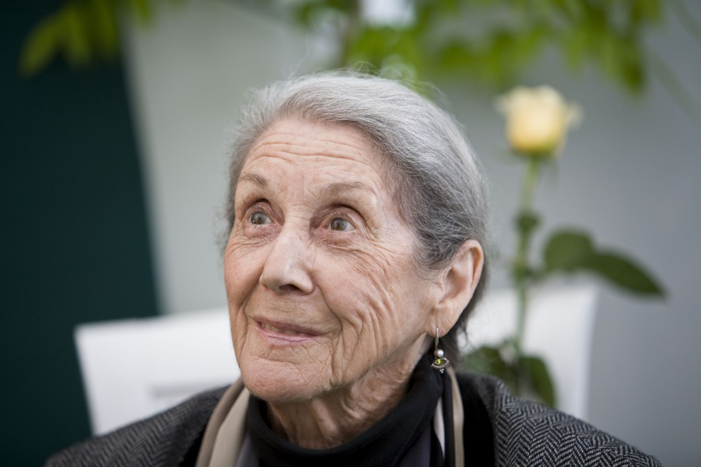 Nobel Laureate Nadine Gordimer, seen here in 2010 at the annual Hay Festival of Literature & Arts in Wales, died Sunday in Johannesburg. She was was 90 years old. Photo by David Levenson/Getty Images)
