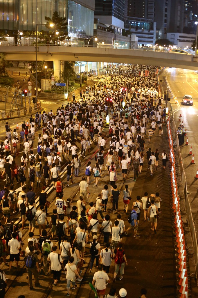 Activists in Hong Kong march in demand of greater voting rights. Photo by Flickr user larique