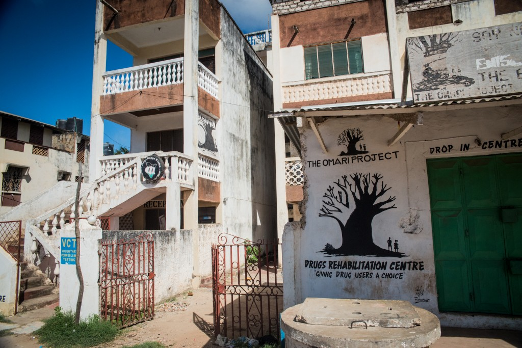 The Omari Project Drop-In Center in Malindi takes its name from the first injection drug user in Malindi to die after sharing a contaminated needle. Photo by Mia Collis/PBS NewsHour