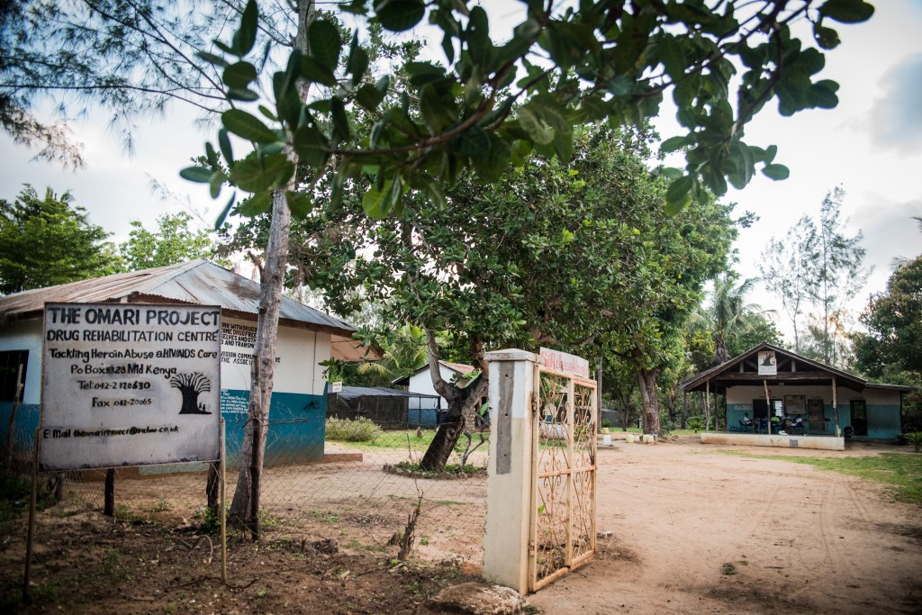 The Omari Project Drug Rehabilitation Center sits several miles outside of the town of Malindi, far removed from many of the temptations the recovering addicts face in normal life. Photo by Mia Collis/PBS NewsHour