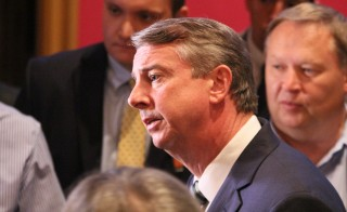 Republican Senate candidate Ed Gillespie after debating Sen. Mark Warner (D) at the Greenbriar on July 26, 2014. Photo by Travis Daub
