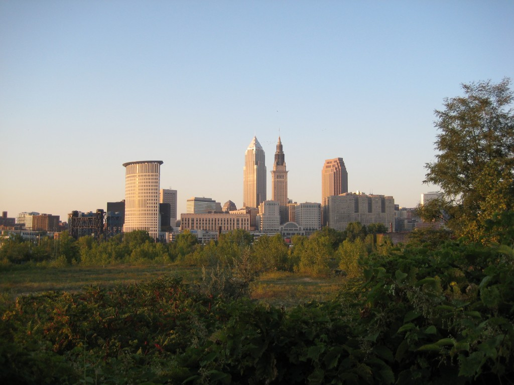 Cleveland skyline by Flickr user Theodore Ferringer.