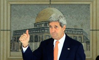 U.S. Secretary of State John Kerry arrived in Israel Wednesday for talks with Netanyahu, Abbas, UN's Ban, Photo by Abbas MomaniAFP/Getty Images