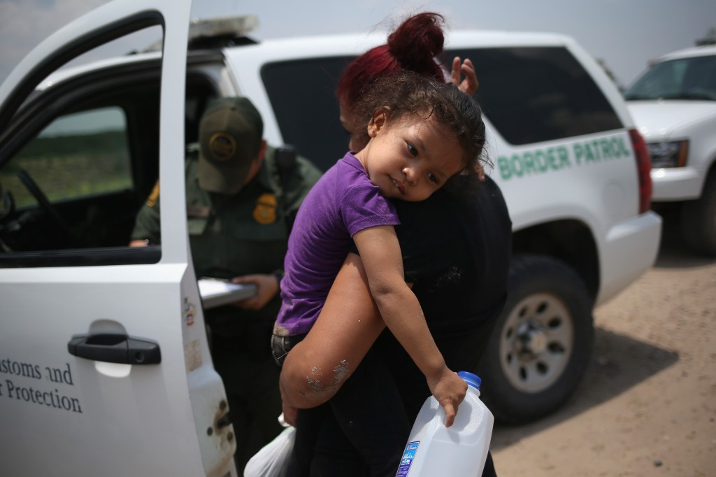 Undocumented immigrants on July 24, 2014 in Mission, Texas.  Photo by John Moore/Getty Images