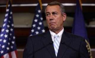 "As Congress races to clear several bills before their summer recess, House Speaker John Boehner accused Democrats Thursday of pursuing a ""nutso scheme"" of trying to seize on the border crisis to try and grant a path to citizenship to millions of immigrants living in the country illegally. Photo by Alex Wong/Getty Images"