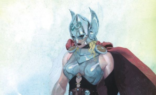 Marvel Comics announced Monday that an unidentified woman will take on the role of Thor in a new comic book series launching this fall. Image courtesy of Marvel