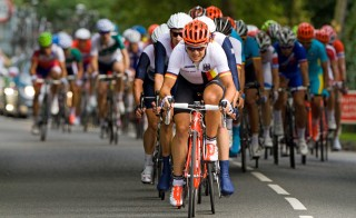 2012 Olympics Men's Road Race passing through Oxshott, Surrey.  Photo by Flickr user RS Deakin.