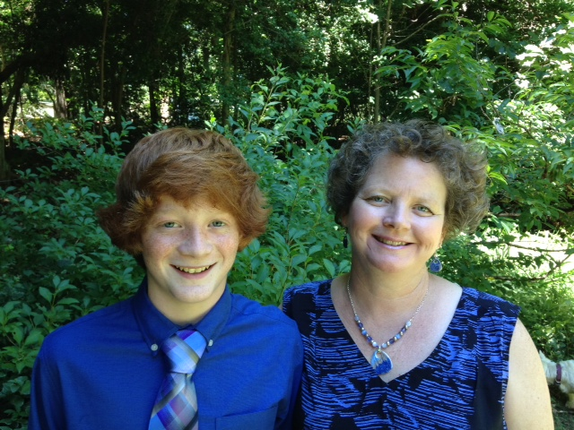 Schuster and her 12-year-old son Ian on a good day in July 2014. Photo by Janice Lynch Schuster
