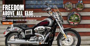 Screenshot courtesy of the author from Harley Davidson website.