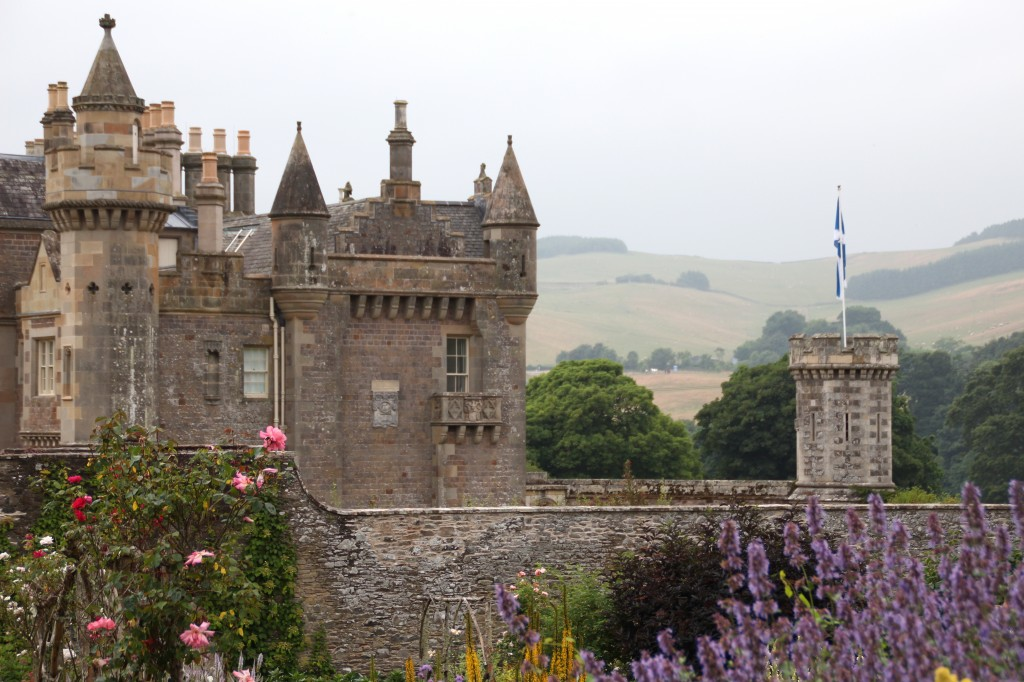 Sir Walter Scott's home, Abbotsford, in the Scottish Borders was built in the Scottish Baronial style.  It's where Scott wrote his world-famous