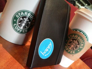 Starbucks and Moleskine notebooks are two brands that help us perform our identities. Photo by Flickr user MyLifeStory.