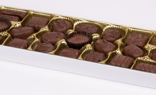 A Russell Stovers box of milk chocolates. Courtesy of Wikimedia Commons.