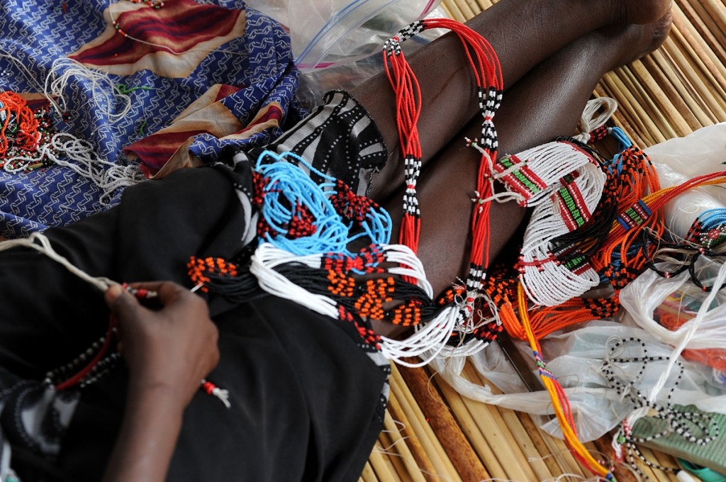 The crafts are sold at international folk art festivals to draw attention to the center in Juba. Photo courtesy of the Roots Project